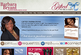 Website design for Christian speaker and author