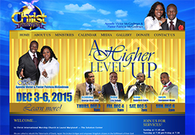Christ International Ministries Web Design