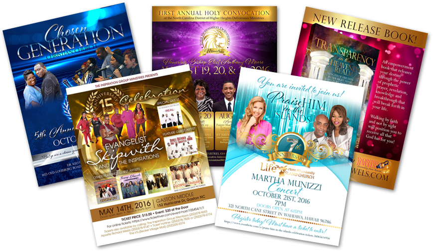 Christian Graphic Design for event flyers