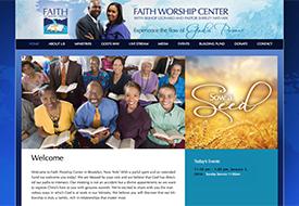 Faith Worship Center website design