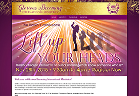 Web design for Christian women's conference