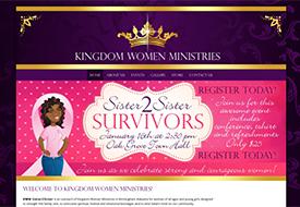 Web design for Christian women's ministry