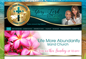 Website design for Christian church in Hawaii