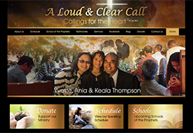 A Loud & Clear Call Ministry website design