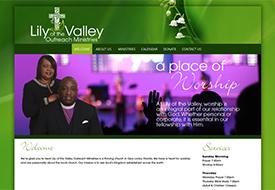 Web design for Christian church Florida
