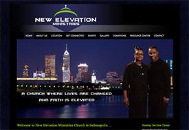 New Elevation Ministries web designer
