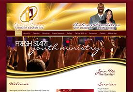 Open Door Worship Center website design