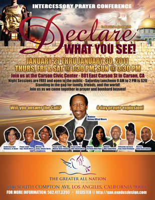Christian prayer conference flyer design