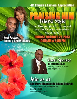 Church Anniversary & Pastoral Appreciation Flyer Design