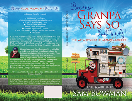 Because Grandpa Says So book cover design for Christian author