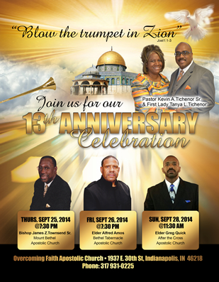 Church anniversary flyer design