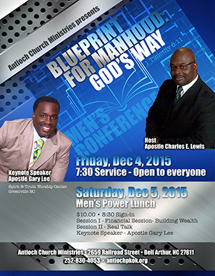 Christian Men's conference flyer design