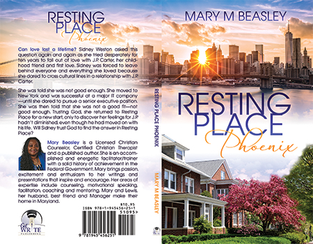 Book cover design for Christian author - Resting Place Phoenix
