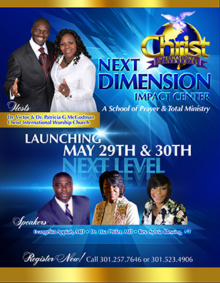 Christian Flyer Design for church anniversary