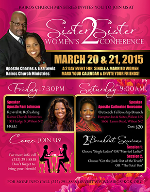 Sister2Sister Women's conference flyer design