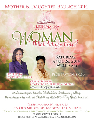 Mother Daughter brunch Flyer Design