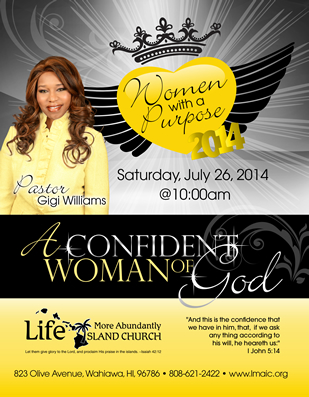 Christian women's ministry flyer design